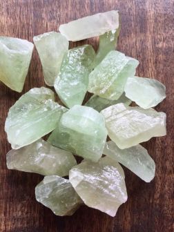 calcite, orange calcite, green calcite, home decor, a healing home, crystal decor