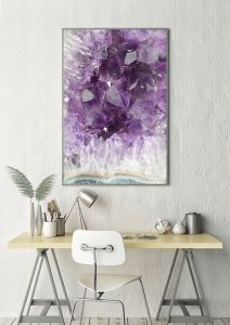amethyst, a healing home, crystal decor, home decor