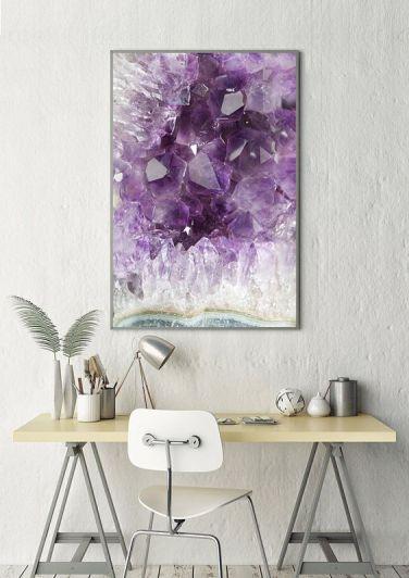 amethyst, a healing home, crystal decor, home decor