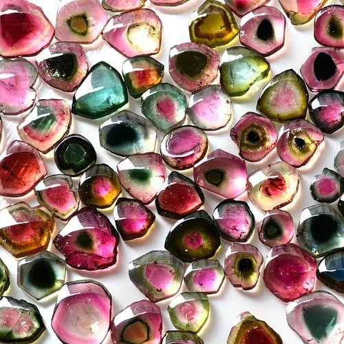 Cluster of Tourmaline gemstones