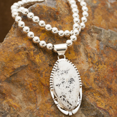 White Buffalo Turquoise necklace
